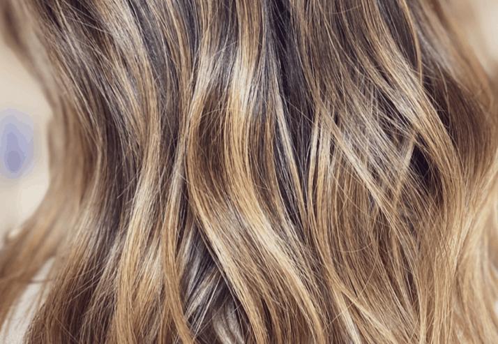 Strähnen mit kühles braun blonden Braune haare